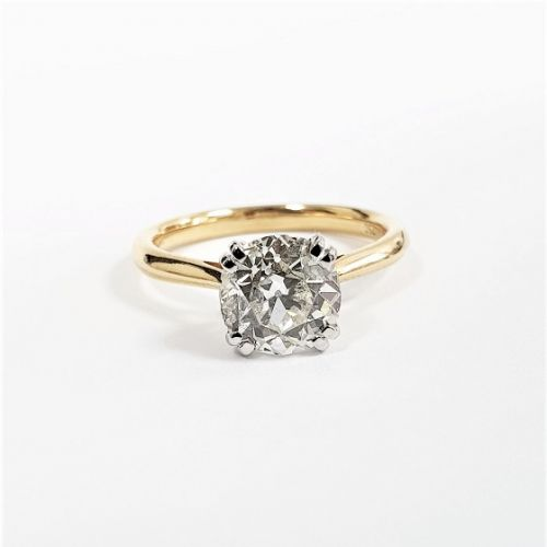 Cuttings Jewellers and Pawnbrokers, womens luxury gold band engagement ring with large diamond stone