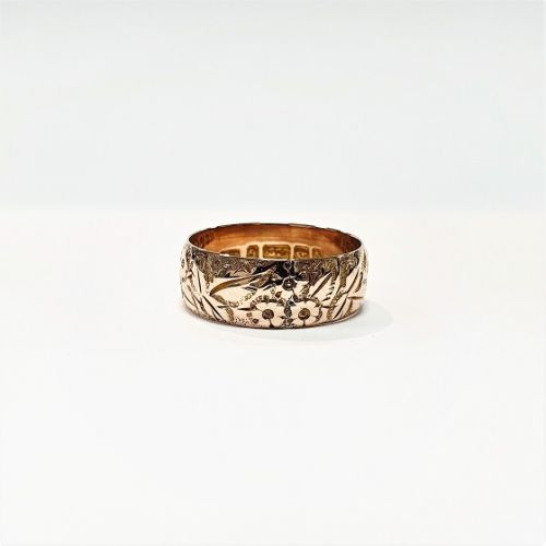 Cuttings the Jewellers and Pawnbrokers antique vintage embossed ring gold luxury