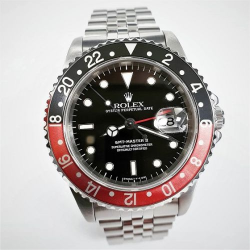 Cuttings Jewellers and Pawnbrokers, red and black Rolex luxury mens watch