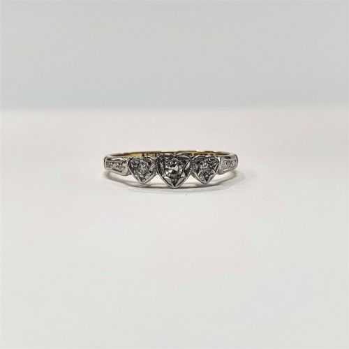 Cuttings Jewellers and Pawnbrokers, womens antique luxury silver ring with three heart diamonds