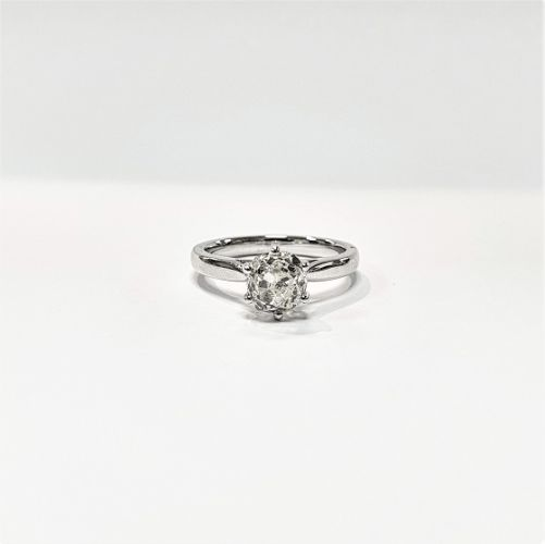 Cuttings Jewellers and Pawnbrokers, womens luxury silver engagement ring with diamond stone