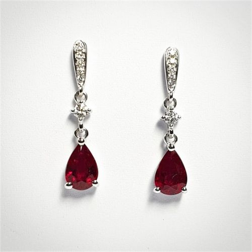 Cuttings Jewellers and Pawnbrokers, womens luxury antique ruby earrings