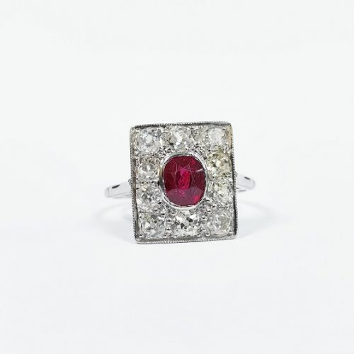 Cuttings Jewellers and Pawnbrokers, silver luxury diamond ruby ring